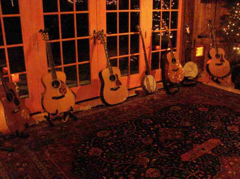 guitars in a row