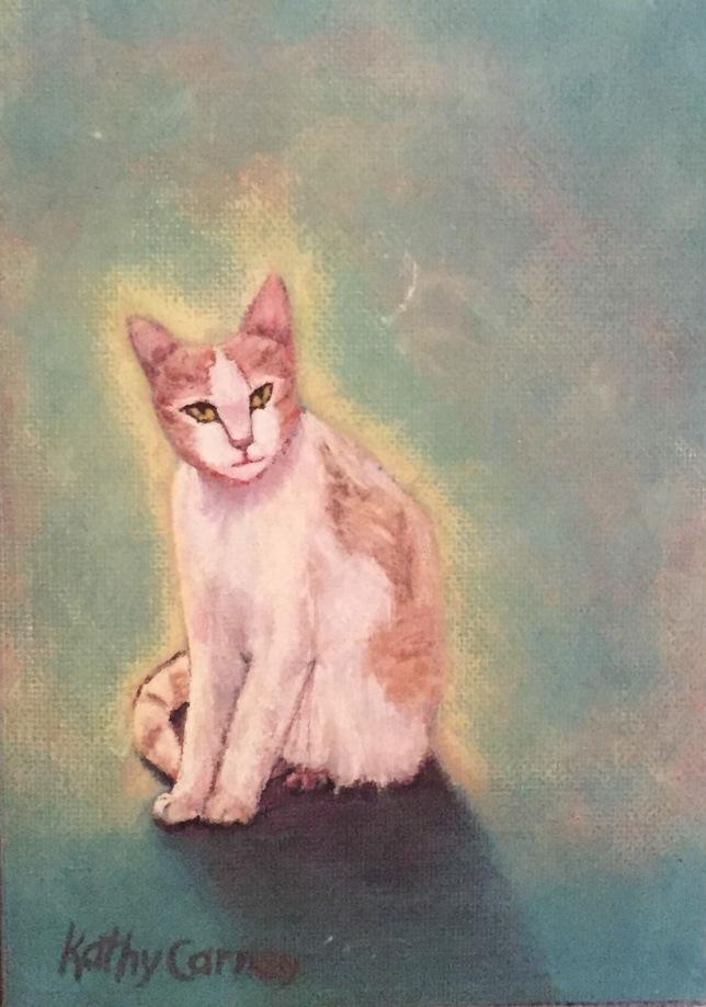 Orange kitty painting
