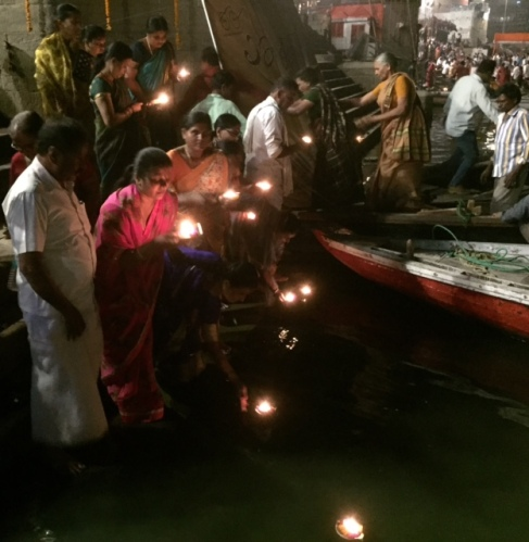 candles on the ganges